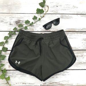 Under Armour running shorts built in undershort